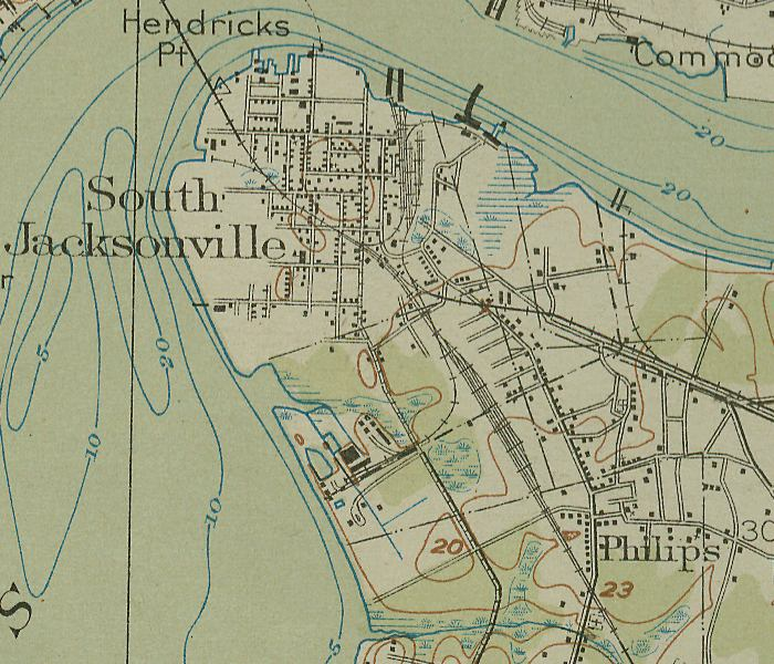 1864 1918 Maps Of Jax Springfield Brooklyn Riverside Mandarin