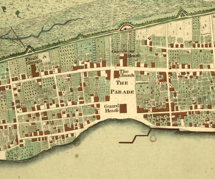 Map of central st. augustine, 1777