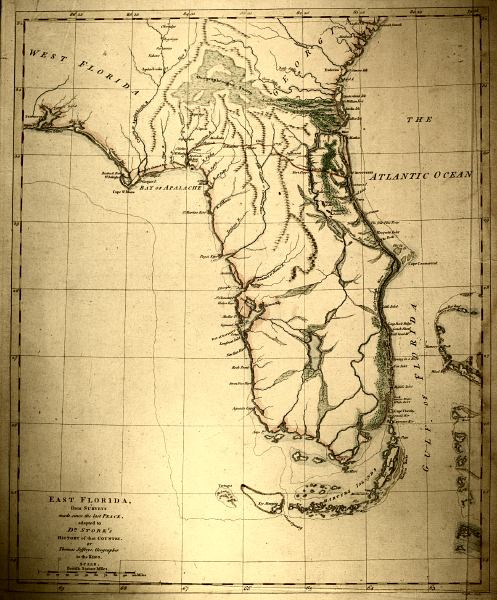 Map Of East Florida.Map Of East Florida 1769