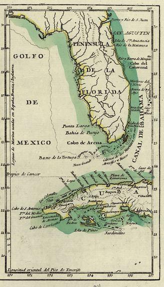Cuba To Florida Map.Map Of Florida And Cuba 1783