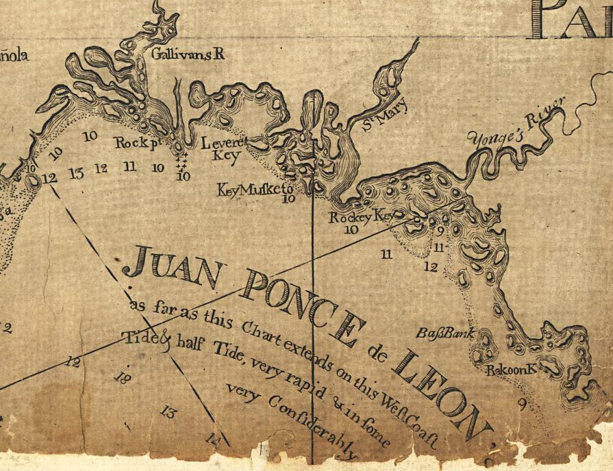 Map Of Southwest Florida Coast.Map Of Southwest Coast Of Florida 1781