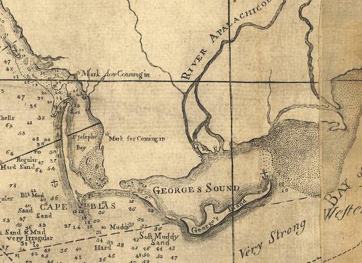 Saint George Florida Map.Map Of St George Sound 1781