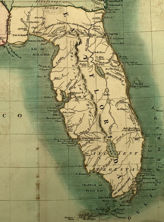 Map Of East Florida.Map Of East Florida 1806
