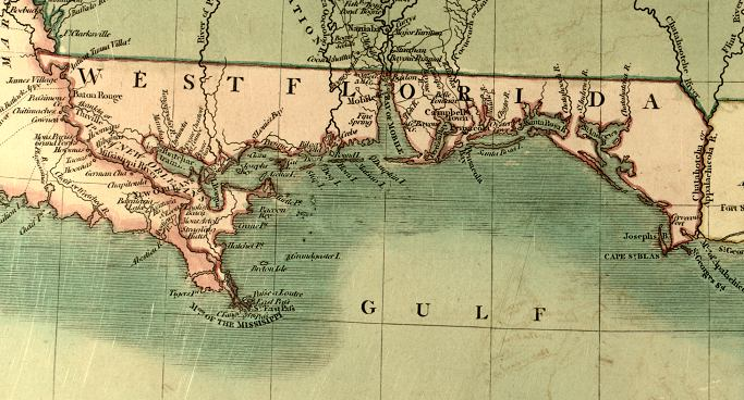 West Florida Map.Map Of West Florida 1806