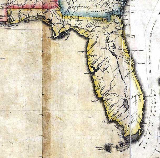 Map of Florida, 1816