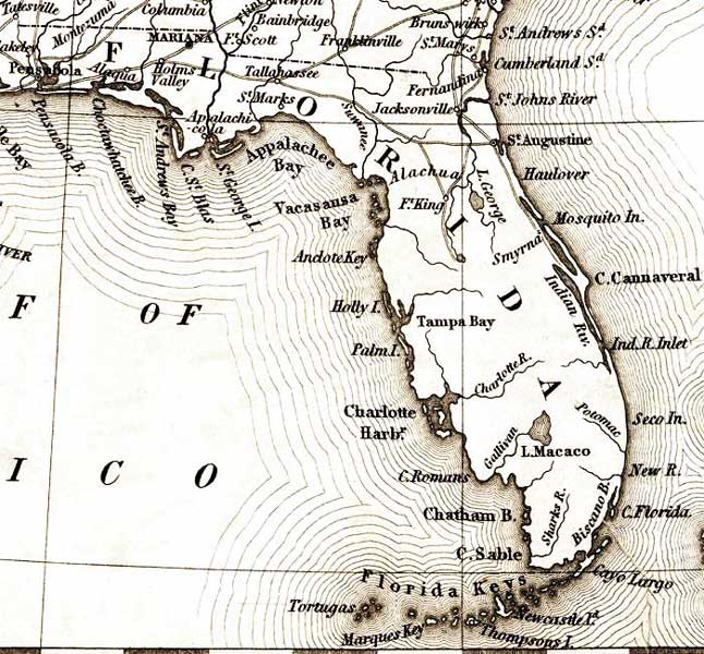 Map Of Florida - Map of fl east coast