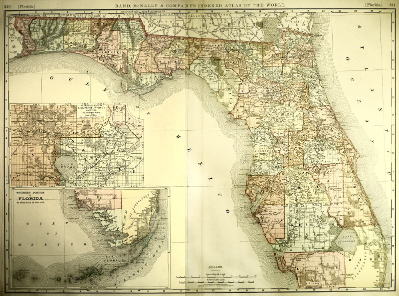 Map Of Florida S III - 1800s world map