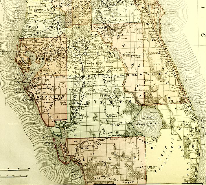 detailed southern florida map