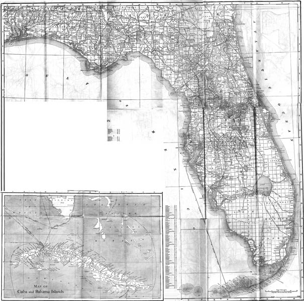 Map Of Florida - 1920 map of us