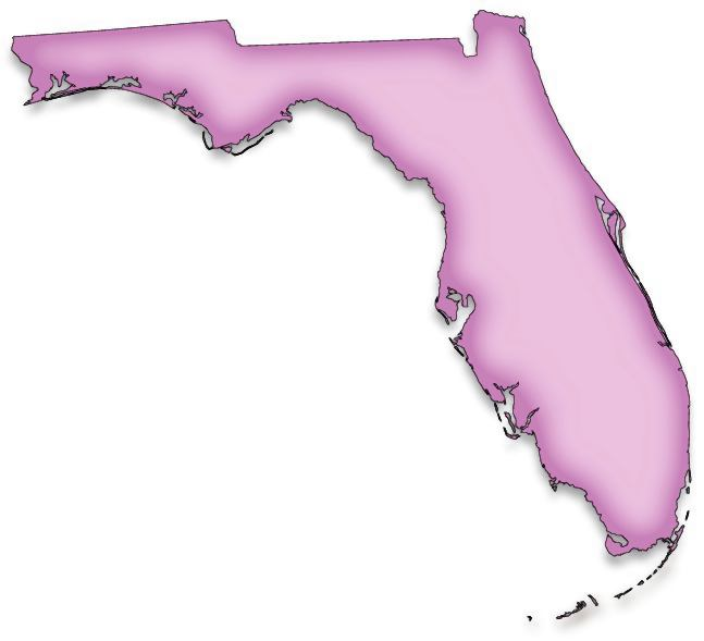 Shape Of Florida On Map Exploring Florida: Color Clip Art Maps