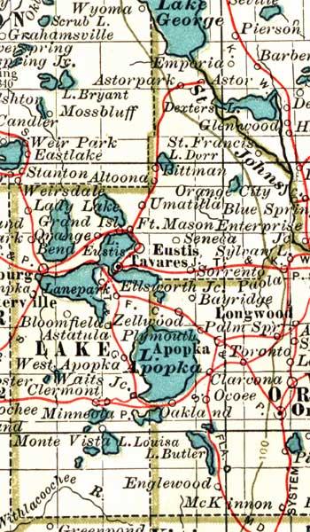 Map Of Lake County Florida.Map Of Lake County Florida 1897