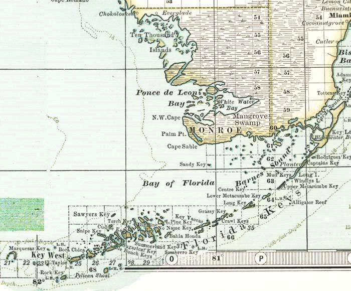 Of Monroe County Florida - County map of florida