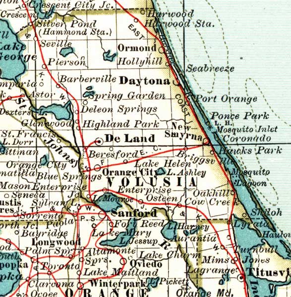volusia county on florida map