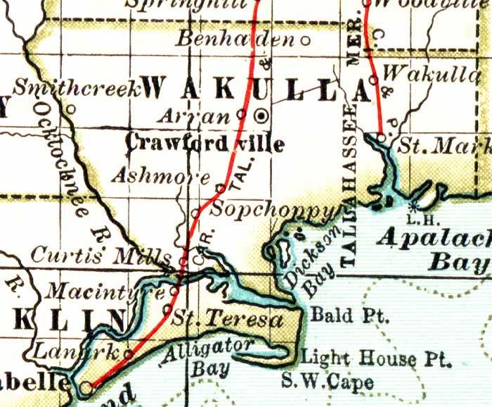Map Of Wakulla County Florida.Map Of Wakulla County Florida 1897
