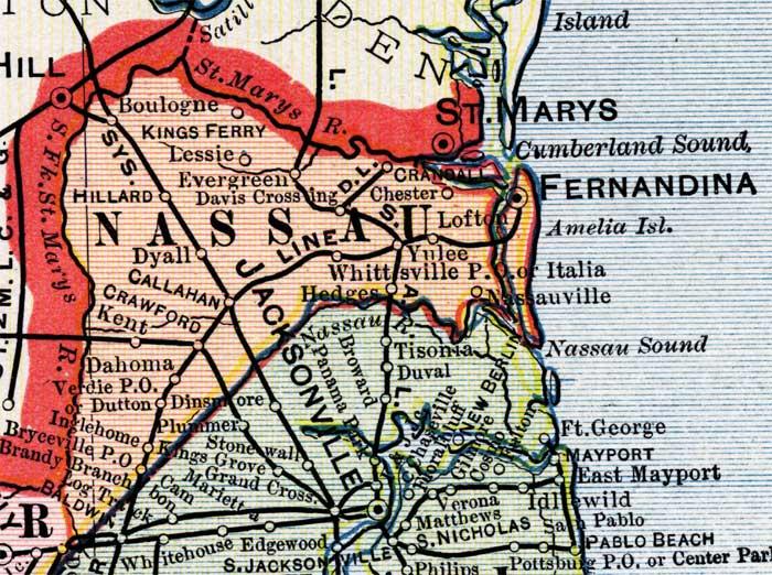 nassau county florida map