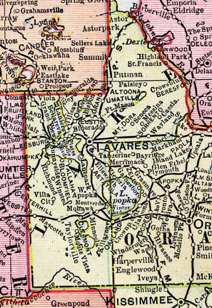 Map Of Lake County Florida.Map Of Lake County Florida 1899