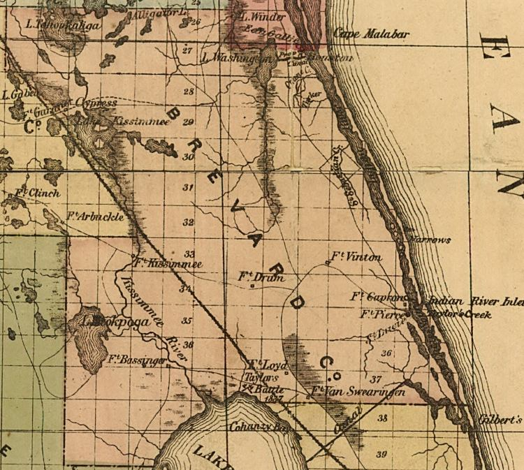 Map Of Brevard County Florida.Map Of Brevard County Florida 1874