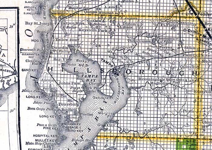 Map of Hillsborough County fl Map of Hillsborough County