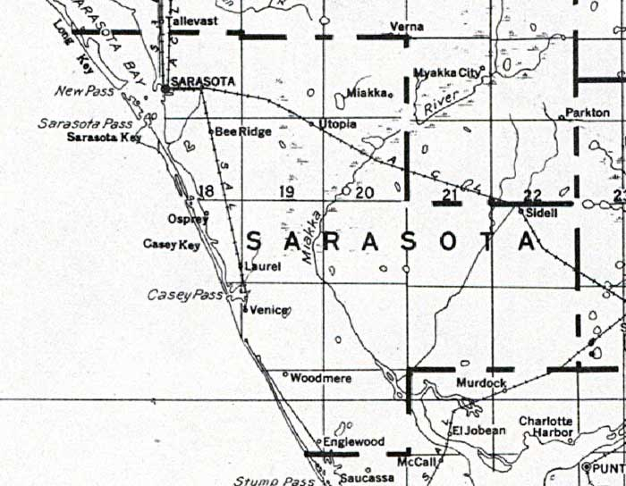 Map of Sarasota County, Florida, 1932 Sarasota County Florida Map on lakeland florida map, little salt spring florida map, sarasota fl, hidden river florida map, bradenton florida map, charlotte county florida map, saint johns county florida map, white beach florida map, desoto county florida map, vamo florida map, alameda county florida map, myakka river florida map, sarasota south west florida map, lee county florida map, st. marks florida map, wimauma florida map, manatee county florida map, albany county florida map, sarasota road map, siesta key florida map,