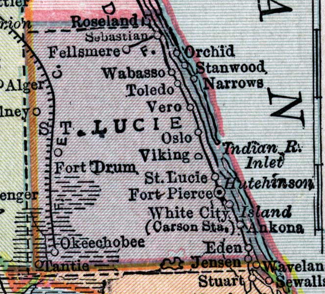 Map Of St Lucie County Florida.Map Of St Lucie County Florida 1916