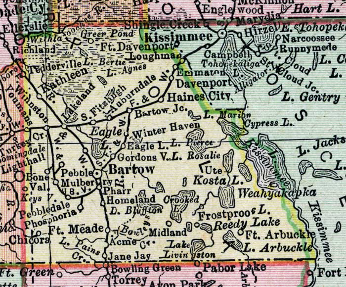 Map Of Polk County Florida 1900