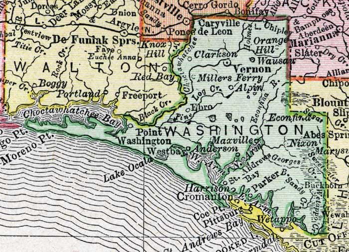 Of Washington County Florida - Washington county map