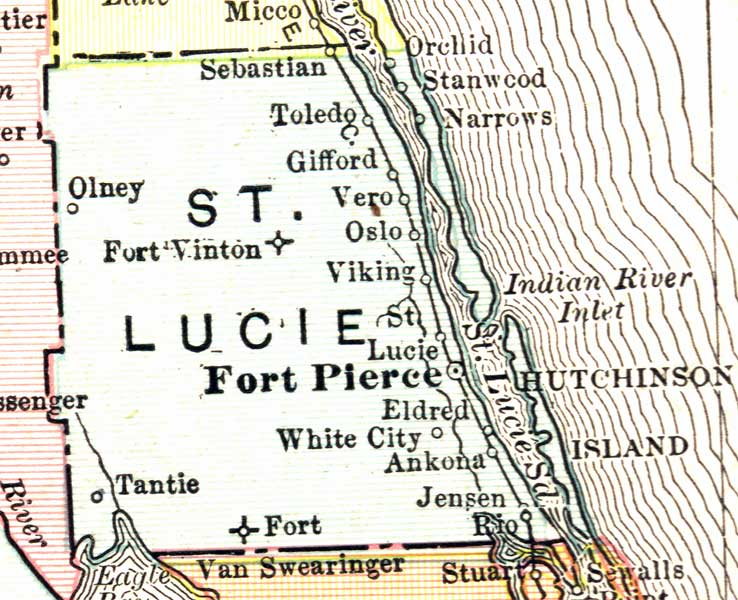 Map Of St Lucie County Florida.Map Of St Lucie County Florida 1911