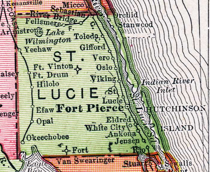 Map Of St Lucie County Florida.Map Of St Lucie County Florida 1917