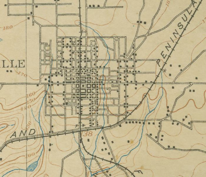 Map Of Gainesville Town Center 1894 Florida