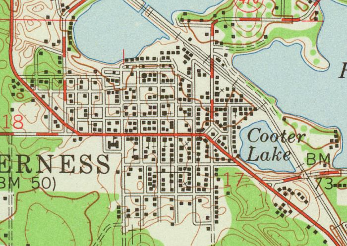 Inverness Florida Map.Map Of Inverness 1954 Florida
