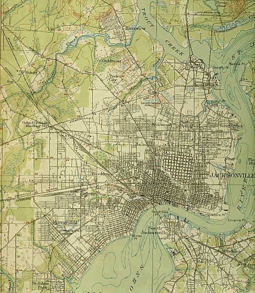 Jacksonville Florida Map.Map Of Jacksonville 1918 Florida