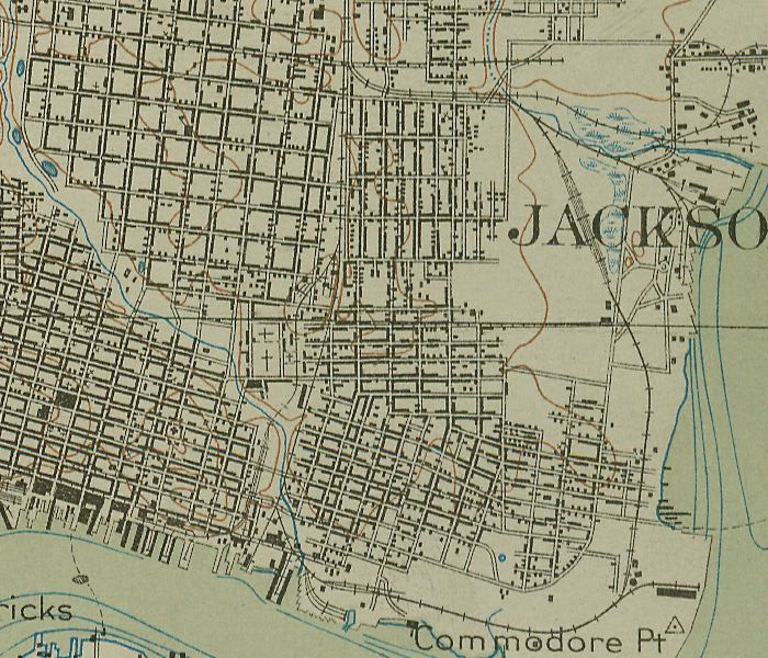 Map of Jacksonville Center, 1918, Florida