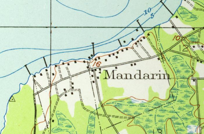 Map Of Mandarin 1917 Florida