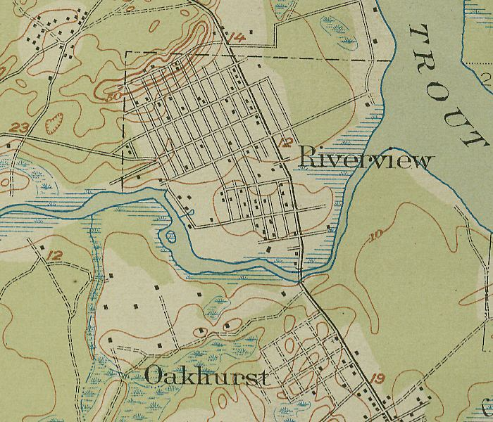 Map Of Riverview Oakhurst 1918 Florida