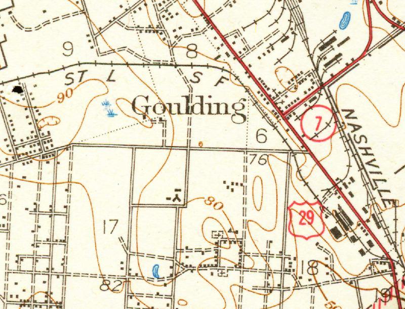 Map Florida Pensacola.Map Of Pensacola Goulding 1942 Florida