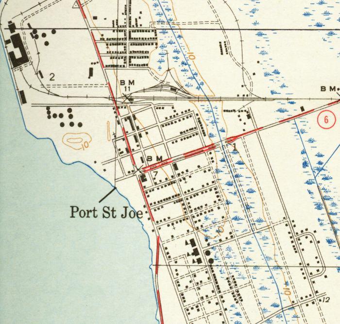Port St Joe Florida Map.Map Of Port St Joe 1943 Florida