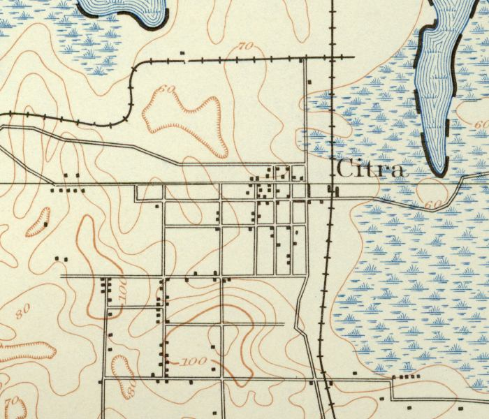 Map Of Citra 1893 Florida