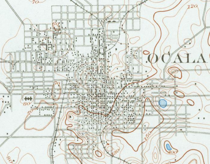 Map Of Ocala Florida.Map Of Ocala 1895 Florida