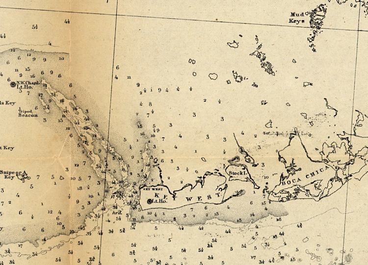 Map of Key West, 1863 Key West United States Map on usa maps united states, key west map orlando, us maps united states, key west map cuba, key west map atlantic ocean, key west map fort lauderdale, key west map florida,