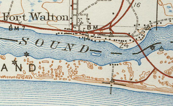 Map Of Fort Walton 1938 Florida