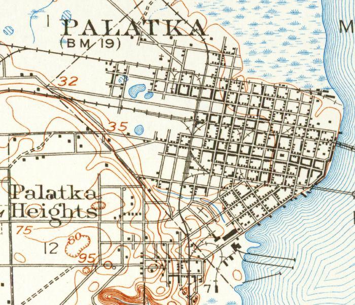 Palatka Florida Map.Map Of Palatka 1915 Florida