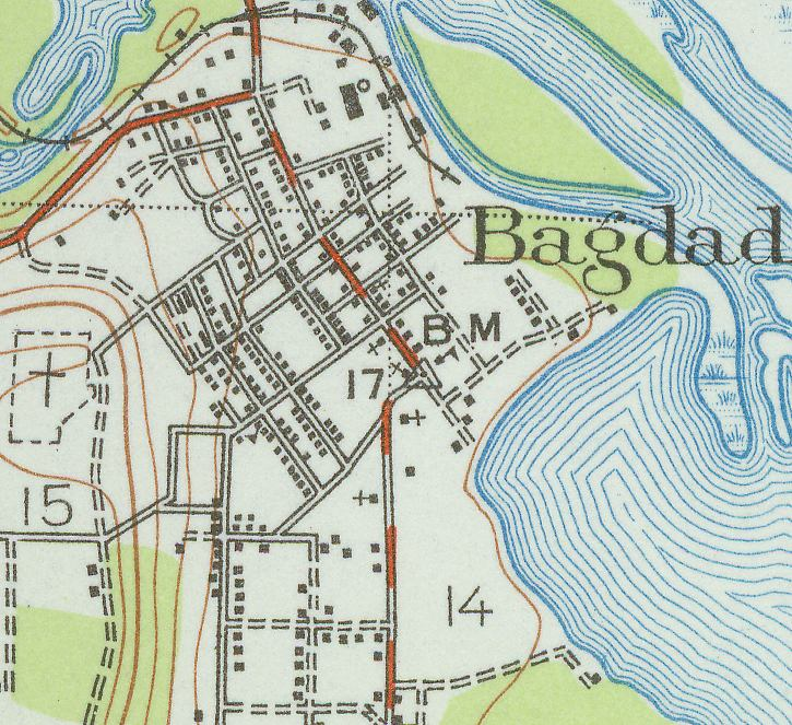 map of bagdad florida