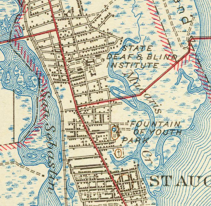Map St Augustine Florida.Map Of North St Augustine 1943 Florida