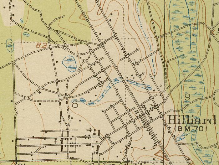 Map Of Hilliard 1919 Florida