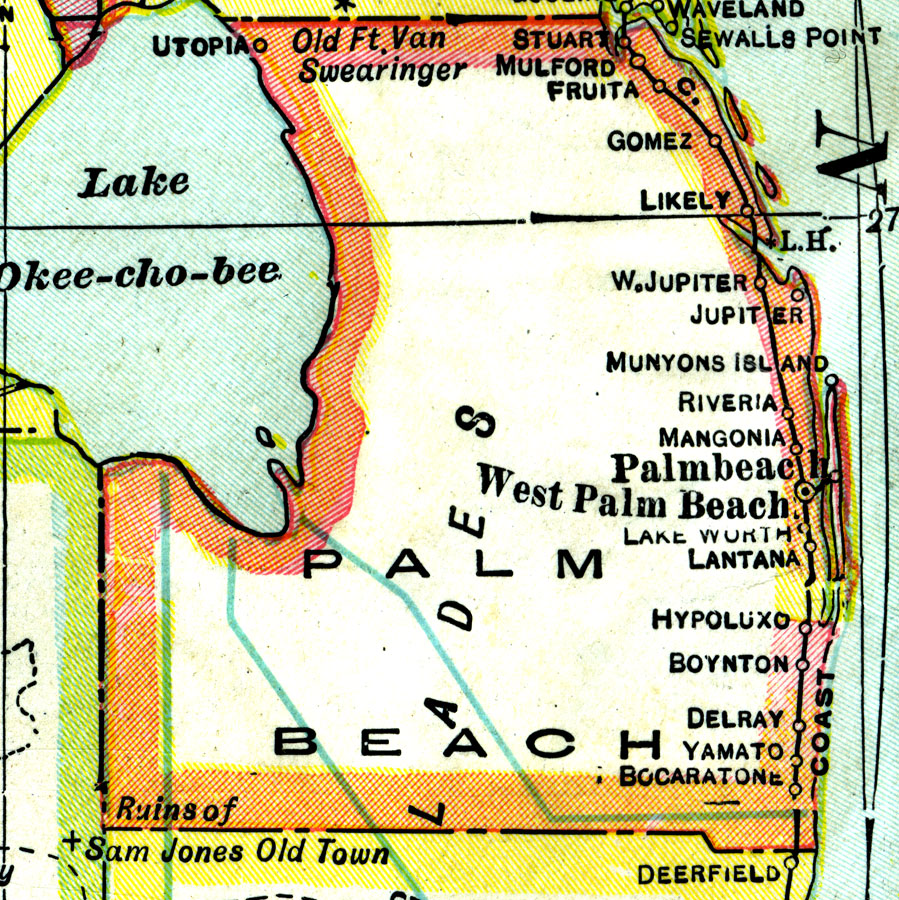 Florida Maps Palm Beach County - Florida map beach