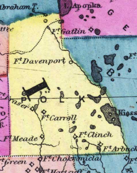 Gatlin South Carolina Map.Polk County 1873