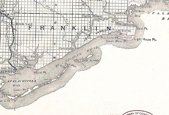 Dog Island Florida Map.Franklin County 1888
