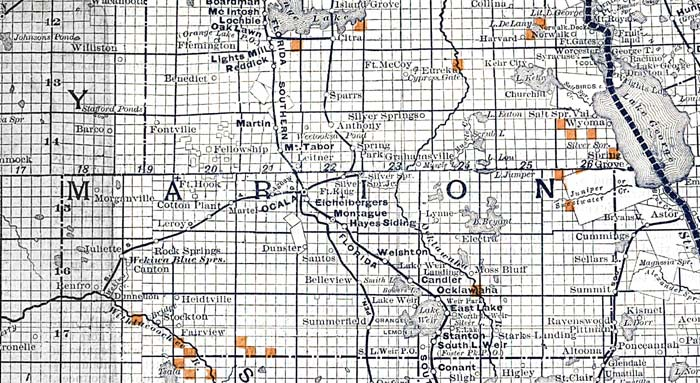 Marion County Florida Map.Marion County 1888