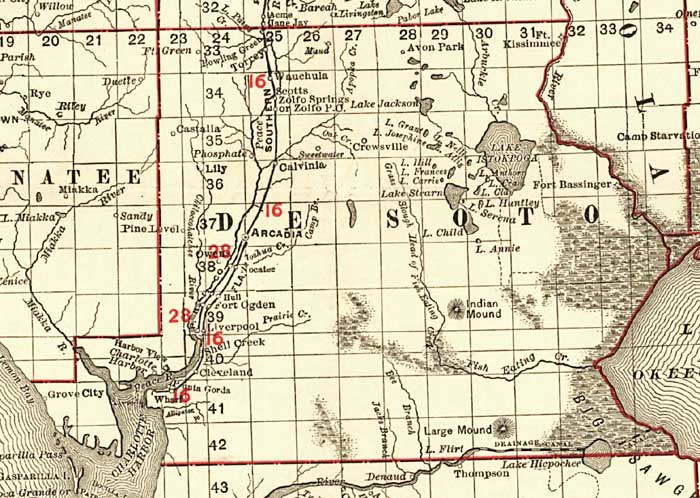 desoto county florida map