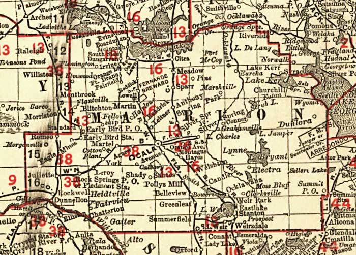 Florida Railroads Marion County 1900